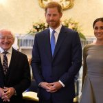 Meghan Markle and Harry meet Ireland's president Michael D Higgins Photo (C) REUTERS