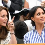 Meghan Markle and Kate attended Wimbledon on Saturday without their husbands Photo (C) GETTY