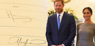 Meghan Markle and Prince Harry's signatures have been revealed Photo (C) GETTY