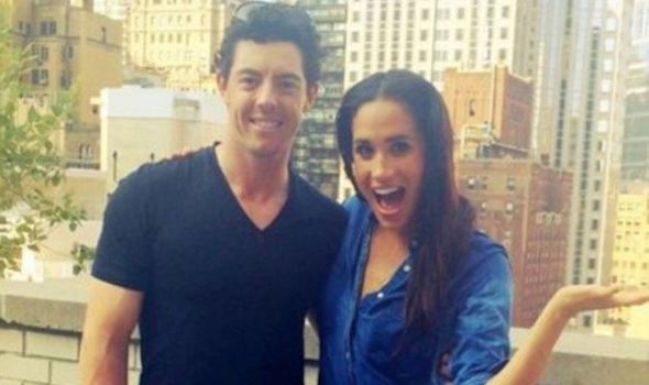 Meghan Markle and Rory McIlroy pose in New York City in 2014 after taking on the ice bucket challeng Photo (C) INSTAGRAM MEGHAN MARKLE