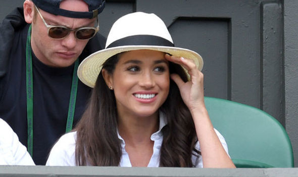 Meghan Markle attended Wimbledon during the summer she started dating Prince Harry Photo (C) GETTY