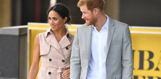 Meghan Markle dazzled in a nude sleeveless dress Photo (C) PA
