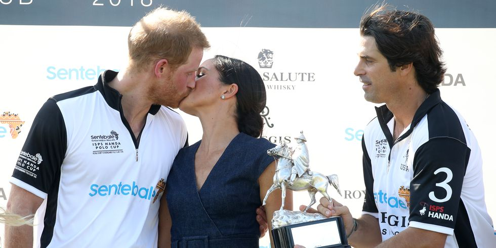 Meghan Markle had the privilege of giving awards out at the end of the 2018 Sentebale Polo Photo (C) GETTY