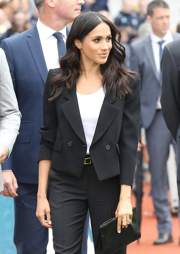 Meghan Markle has arrived with Harry for their second day in Ireland Photo (C) PA