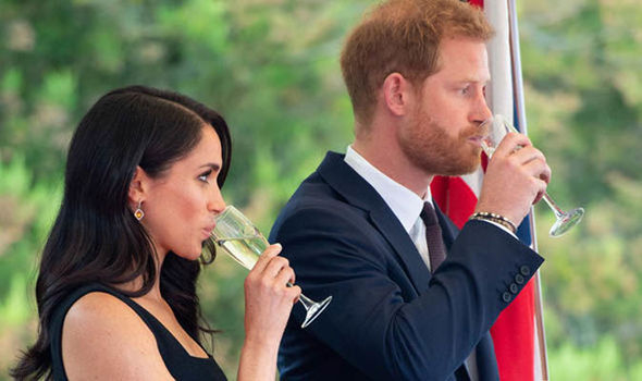 Meghan Markle news The Duke and Duchess of Sussex with President Michael Higgins and his wife Photo (C) AFP, GETTY