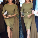 Meghan Markle news Meghan wore an olive green Ralph Lauren dress (Image GETTY)