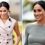Meghan Markle wore a House of Nonie sleeveless trench dress to the Nelson Mandela Centenary event (Image GETTY)
