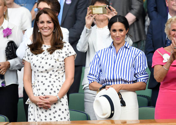 Meghan Markle wore a Ralph Lauren shirt to the Ladies' singles final at Wimbledon (ImagMeghan Markle wore a Ralph Lauren shirt to the Ladies' singles final at Wimbledon (Image GETTY)e GETTY)