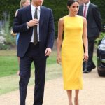 Meghan Markle wore a bright yellow Brandon Maxwell dress to a Commonwealth event in London (Image GETTY)