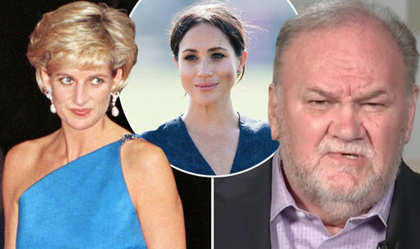 Princess Diana has been dragged into an explosive rant by Meghan's father Thomas Markle (Image GETTY)