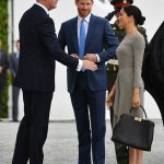 Meghan and Harry arrive for the second day of their Ireland tour Photo (C) PA