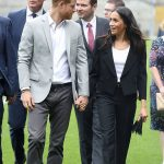 Meghan and Harry hold hands as they tour Croke Park Photo (C) GETTYMeghan and Harry hold hands as they tour Croke Park Photo (C) GETTY