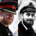 Philip sported a beard when he was away in the armed forces in his younger years Photo (C) GETTY IMAGES