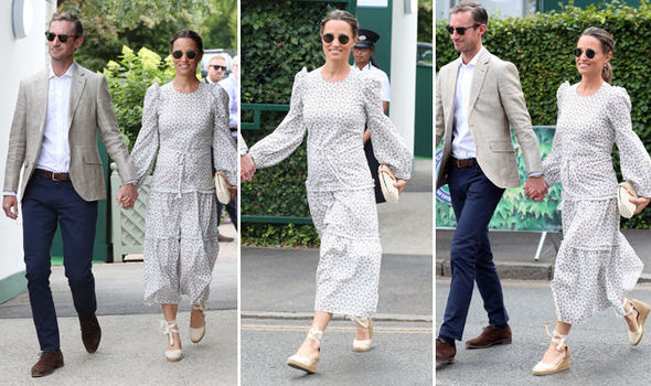 Pippa Middleton arrived at Wimbledon today alongside husband James Matthews Photo (C) GETTY