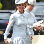 Pippa Middleton leaves to go to Prince Louis's christening Photo (C) WIREIMAGE