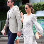 Pippa Middleton tied her back but didn't scrimp on the detailing with braids on the side of her head Photo (C) GETTY