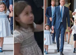 Prince Charlotte looked adorable as she arrived for Prince Louis' Christening Photo (C) KENSINGTON PALACE TWITTER