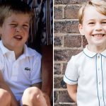 Prince George A young Prince William (left) compared to Prince George now (Image Getty)