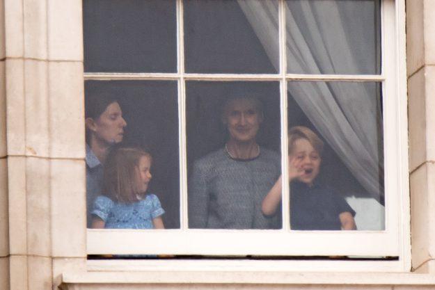 Princess Charlotte was seen pulling hilarious faces at the RAF 100th anniversary [Joe Dias NEWSPIX INTERNATIONAL]