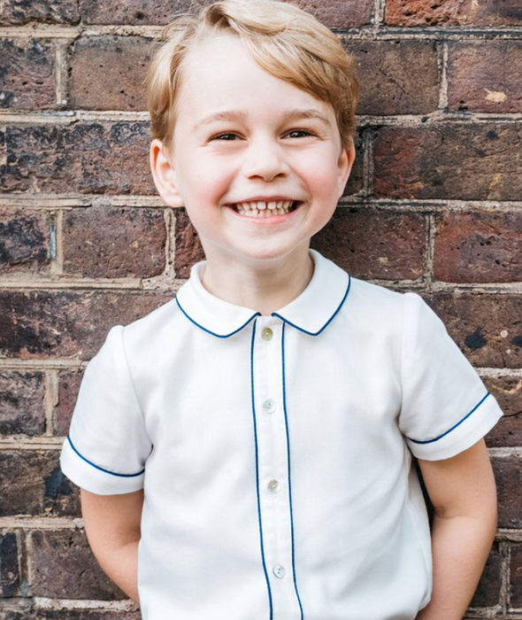 Prince George birthday He is said to resemble Prince William in the official portrait (Image Getty)