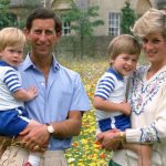 Prince George birthday William as a child pictured with brother Harry and parents Diana and Charles (Image Getty)