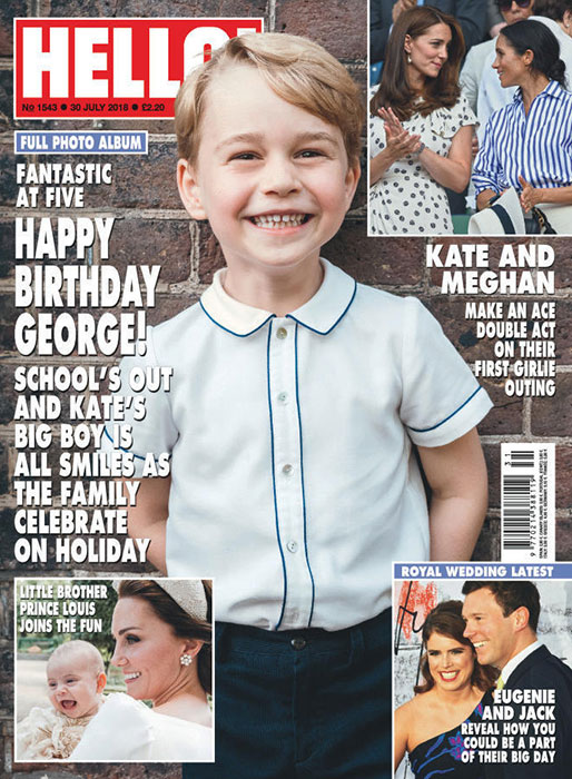 Prince George has the biggest smile in adorable fifth birthday portrait Photo (C) HELLO MAGAZINE