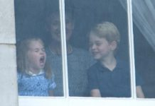 Prince George is seen laughing at his sister Charlotte as she pulls funny faces [Joe Dias NEWSPIX INTERNATIONAL]