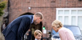 Prince George on his first day of school Photo (C) GETTY