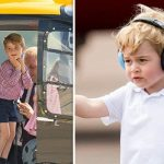 Prince George showed his love for helicopters, volcanoes, and all-things police related (Image GETTY)
