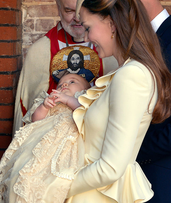 Prince George wore the christening in 2013 Photo (C) GETTY