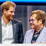 Prince Harry and Elton John during a session at the AIDS2018 conference about the work of the Elton John Aids Foundation 22nd
