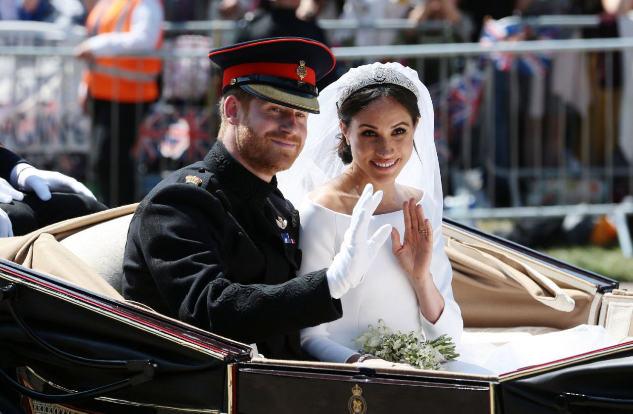Prince Harry and Meghan's wedding was a huge spectacle with the need for huge amounts of security. Photo Getty