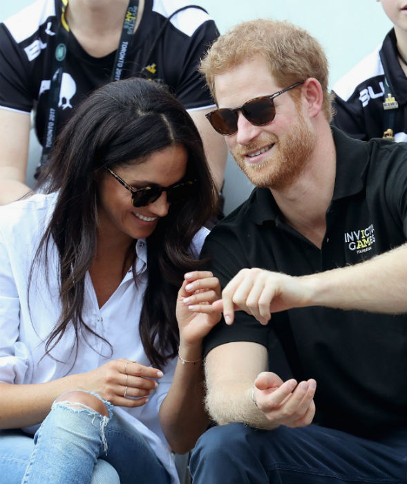 Prince Harry and Meghan Markle have been praised for being so down-to-earth Photo (C) GETTY