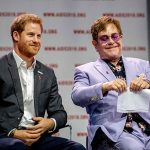 Prince Harry and Sir Elton John at the Aids 2018 summit in Amsterdam Photo (C) GETTY