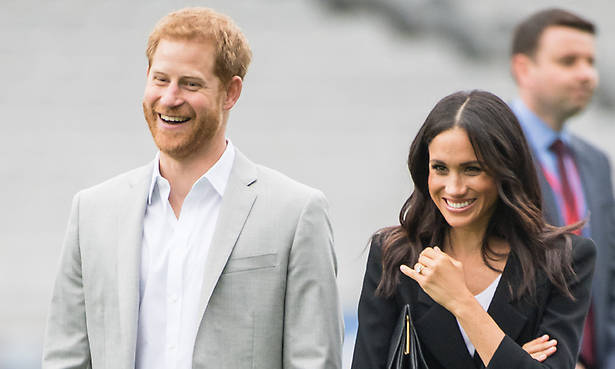 Prince Harry quizzed about children with Meghan Markle Photo (C) GETTY