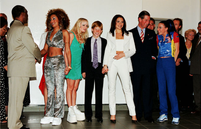 Prince Harry with the Spice Girls in 1997 Photo (C) GETTY