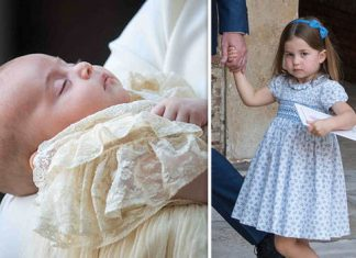 Prince Louis christening Princess Charlotte made a cheeky comment to the waiting photographers Photo (C) GETTY