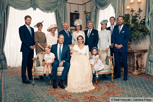 The family were joined by Prince Harry, Meghan Markle, Prince Charles and Camilla