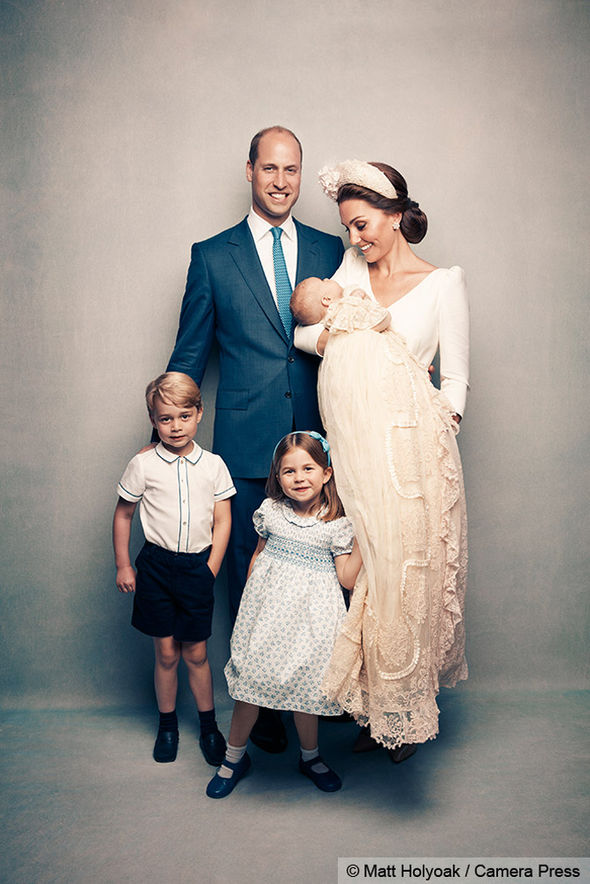 Prince Louis christening pictures Kate and William pictured with their close family