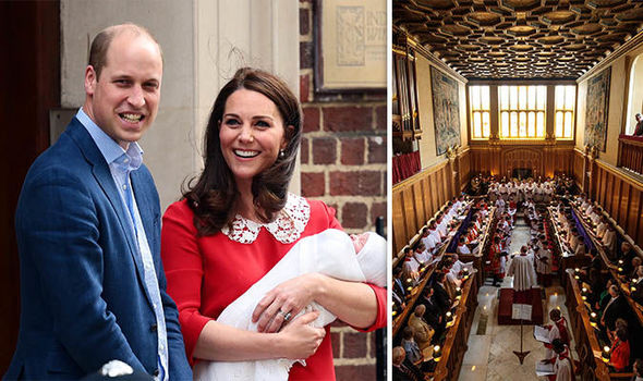 Prince Louis' christening will take place on Monday, 8 July at St James Palace in Windsor Photo (C) GETTY
