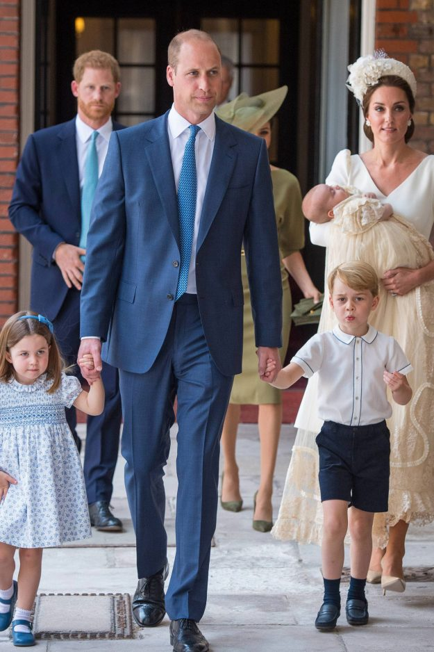 Princess Charlotte of Cambridge leaves the christening of her brother Prince Louis at the Chapel RoPrincess Charlotte of Cambridge leaves the christening of her brother Prince Louis at the Chapel Royal [Getty ]yal [Getty ]