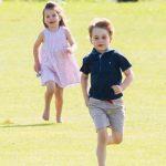 Princess Charlotte The royal siblings at the Maserati Royal Charity Polo Trophy at Beaufort Park (Image Getty)