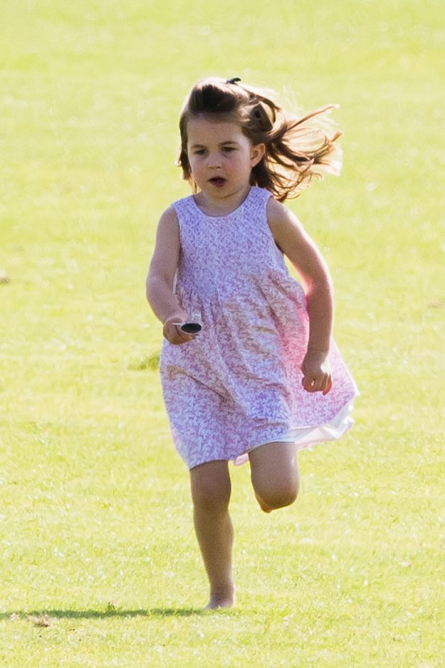 Princess Charlotte always wears adorable dresses but has never been seen in trousers [Getty]