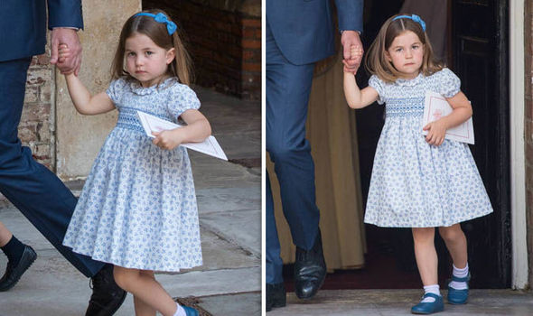 Princess Charlotte at Prince Louis' christening Photo (C) GETTY