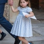 Princess Charlotte is always seen in patterned dresses [Getty]
