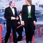 Princess Diana turned heads in this daring tuxedo in 1988. Photo (C) GETTY