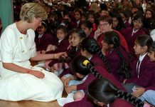Princess Diana was known for her way with children Photo (C) GETTY