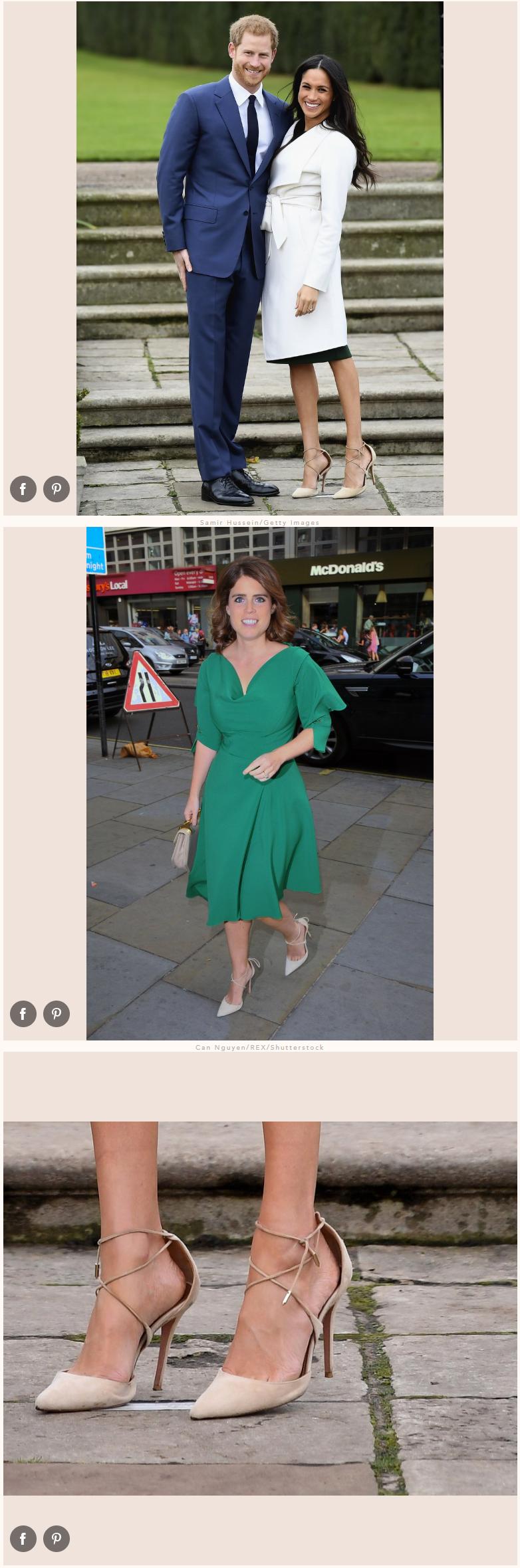 Princess Eugenie Wears Meghan Markle's Engagement Shoes