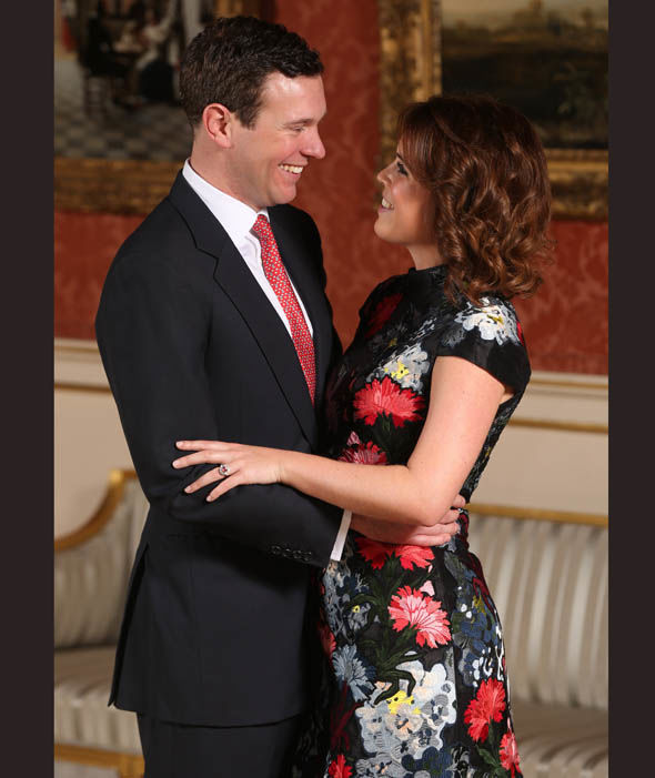 Princess Eugenie and Jack Brooksbank at the wedding of Prince Harry and Meghan Markle Photo C AFP GETTY