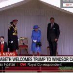 Queen Elizabeth Waiting for President Donald Trump Photo (C) GETTY